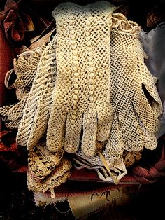 lace gloves...
