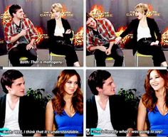 OMGOSH!! lol haha funny pics / pictures / XD / Josh / Jennifer Lawrence / Celebrities / Hunger Games Humor / Catching Fire