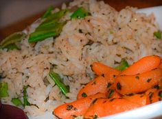 Ginger Carrots A great side dish without many ingredients!
