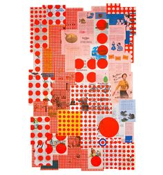 Silkscreen collages for the love of the polka dot by Tamar Cohen