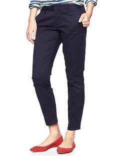 Navy skinny mini skimmer khakis | Gap
