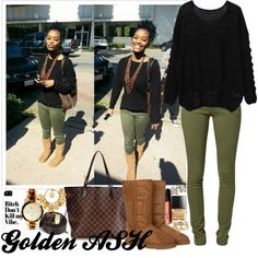 Louis UGG, B*tch Dont Kill My Vibe, created by fashionsetstyler on Polyvore