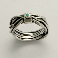 Sterling silver gemstone ring with blue opal - Your thoughts. $88.00, via Etsy.