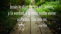 «Jesús le dijo: Yo soy el camino, y la verdad, y la vida; nadie viene al Padre, sino por mí.» Juan 14:6  #Dios #Jehova #Jesus #JesuCristo #JesusCristo #Cristo #EspirituSanto #EspirituDeDios #Fe #Amen #Evangelio #PalabraDeDios #Biblia #Versiculo #Avivamiento #AdorandoalRey