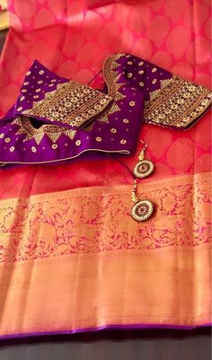 End Customization with Hand Embroidery & beautiful Zardosi Art by Expert & Experienced Artist That reflect in Blouse , Lehenga & Sarees Designer creativity that will sunshine You & your Party. Wedding Saree Blouse Designs, Pattu Saree Blouse Designs, Maggam Work Designs, Simple Blouse Designs, Modern Saree, Designer Blouse Patterns, Blouse Models, Clothes For Women, Work Blouse