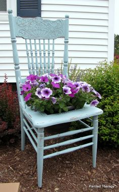 Painted Therapy: Get ready for Spring -- The Chair Planter