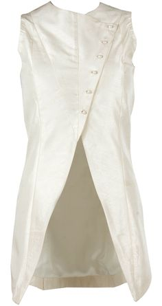 Cream asymmetric waist coat available only at Pernia's Pop-Up Shop.