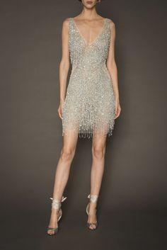 Sleeveless Beaded and Fringe Mini Dress 20s Fashion, Fashion Dresses, Fashion Pics, Classy Dress, Classy Outfits, Sheer Wedding Dress, Short Dresses, Prom Dresses, 1920s Dress