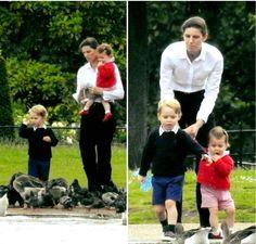 Nanny and the prince & princess of Cambridge