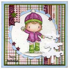 Swiss Pixie Snowballed Heidi, AmyR Stamps Winter Sentiments, C.C. Cutters Candy Decorations