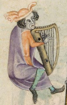 Detail from The Luttrell Psalter, British Library Add MS 42130 (medieval manuscript,1325-1340), f174v