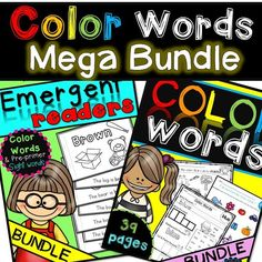 These emergent readers and color worksheets will go great with your color unit. There are 12 books (11 colors and one rainbow mini-book.) There are 3 different worksheets for each color and 6 rainbow worksheets to assess student color knowledge. This product has 3 worksheets for every color. Red, Orange, Yellow, Green, Purple, Pink, Brown, White, Black and Gray