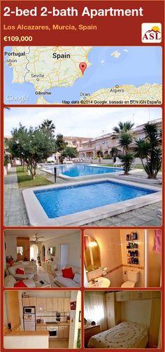 2-bed 2-bath Apartment in Los Alcazares, Murcia, Spain ►€109,000 #PropertyForSaleInSpain