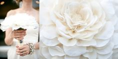 ivory fabric wedding bouquet petal and print 500x250 Non Traditional Bouquet Ideas