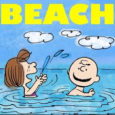 Charlie Brown & Peppermint Patty go to the beach