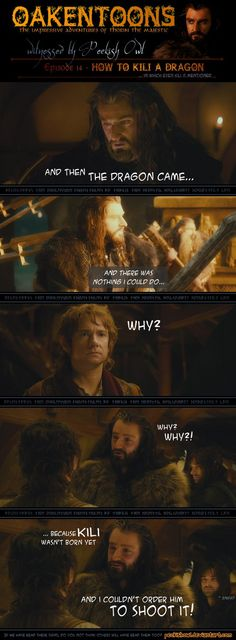 Oakentoon in which Kili is finally mentioned!  :-D