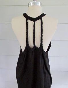 Wobisobi: Racer Back Tee-shirt DIY #3 Three braid back.
