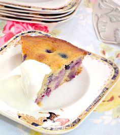 Blueberry polenta cake