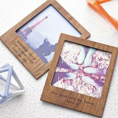 personalised wooden magnetic frame with stand color me creation