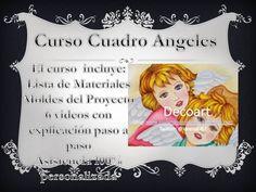 Curso en linea cuadro angeles pintura sobre lona Peanuts Comics, Pyrography, Picture Wall, E Online, Blue Prints, Art