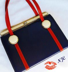 Kelly Bag Nautical Pin Up Red White Navy by normajeanscloset, $59.99