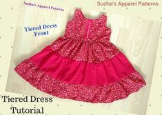 How to Make an Easy Dress (For Cheap! Baby Girl Dress Patterns, Dress Sewing Patterns, Clothing Patterns, Easy Girls Dress, Girls Dresses Sewing, Sundress Tutorial, Simple Frocks, Skirts For Kids, Dress Tutorials