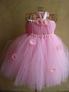 How to Make a Tutu Dress | ... it with a few bling flowers... I can't wait to make more of these