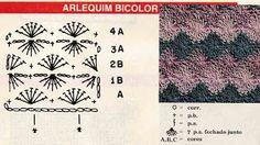 Mosaico de Artes - receitas e gráficos: Ponto Arlequim