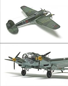Revell Germany 1/32 scale Heinkel He 111P-1 - The distinctive profile of Heinkel's He 111 medium bomber made it one of the most recognizable aircraft in the World War II Luftwaffe.