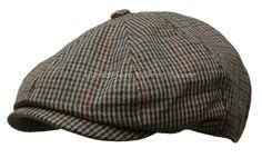 HOUNDSTOOTH GATSBY Wool Tweed Cap Men Newsboy Ivy Hat Golf Driving Flat Cabbie