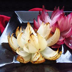 Easy and elegant onion flowers make a great side dish for a special meal