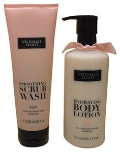 ccfc43928b Victoria s Secret New Acai Lotion 12oz and Scrub Wash 8 Oz Free Bag Free  Lip Scrub Fragrance 49% off retail