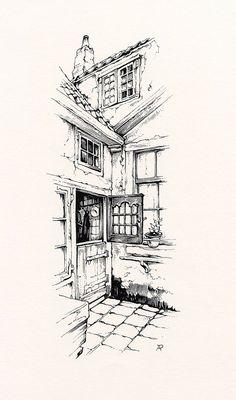 Urban Sketching for Beginners. 40 Mind Pausing Ideas of Urban Sketching for Beginners Drawing Sketches, Art Drawings, Pen Sketch, Drawing With Pen, Drawing Ideas, Beginner Art, Arte Sketchbook, Architecture Sketches, Famous Architecture