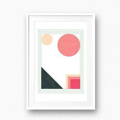 Geometric nursery printable Modern wall art Abstract