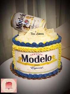 Birthday Cakes For Men, Beer Birthday Party, White Birthday Cakes, 25th Birthday, Birthday Ideas, Beer Bottle Cake, Alcohol Cake, Cupcake Cakes, Beer Cakes