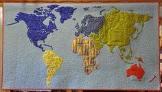165 Best Map quilts images in 2019 | Map quilt, Map art, Fabric art