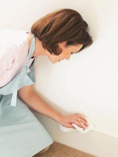 How to Clean Walls and Wallpaper - from HGTV.com. - Clean Molding with Soft Rag and Mild Detergent