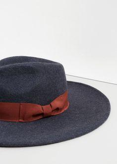 Wool fedora hat -  Women | MANGO USA
