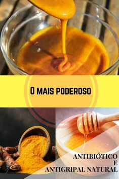 Mel e açafrão - o mais poderoso antibiótico e antigripal natural! #DicasCaseiras #SaúdeeBoaForma #RemédioCaseiro