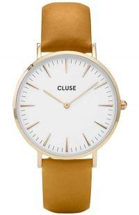 CLUSE La Boheme Gold Brown Leather Strap CL18419