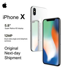 """Brand New Apple iPhone X """"OLED Super Retina Display 4 The device is not tied to the mobile operator FaceID Camera Bluetooth IOS 11 Waterproof Apple Iphone, New Iphone, Iphone 7 Plus, Iphone App, Apple Official Website, Bluetooth, Big Battery, Optical Image, Face Id"""