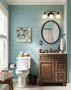 Farmhouse Small Bathroom Remodel and Decor Ideas (16)