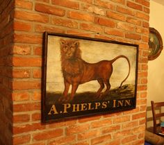 Vintage sign, tavern sign, antique sign, vintage, American, colonial American, reproduction, tavern, circa 1820, museum quality, colonial American sign company, lions eagles bulls, early American