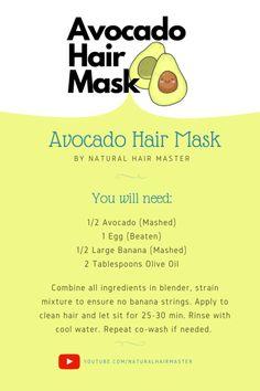 Avocado Hair Mask Recipe - Anegra