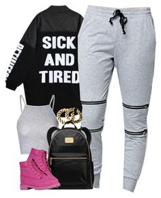"""""""Untitled #1475"""" by power-beauty ❤ liked on Polyvore featuring Glamorous, LA: Hearts, H&M, MICHAEL Michael Kors and Timberland"""