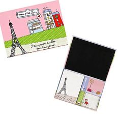 12 €-coffret-note-adhesives-mon-p-tit-paris #paris #shoppingbag #filf #monpetitparis #france