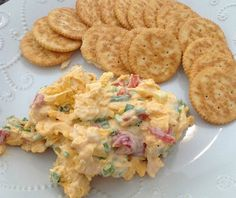 'Minna Cheese - This recipe for pimento cheese is creamy and zippy. Serve this Southern party dip with crackers or veggies.