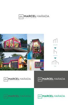 MH Arquitetura - Visual Identity on Behance Visual Identity, Brand Identity, Logo Branding, Logos, Creative Company, Monogram Design, Innovation, Behance, Architecture