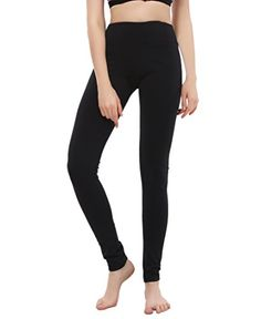 Bentibo Womens Sleek Fit Yoga Pant Spandex Fitness Pant Black Small -- Visit the image link more details.