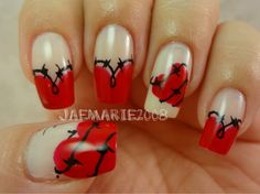 70 Lovely Valentine's Day Inspired Nail Art Ideas_46  #DIYNAILARTDESIGNS #nails #nail #nailart #nailpolish